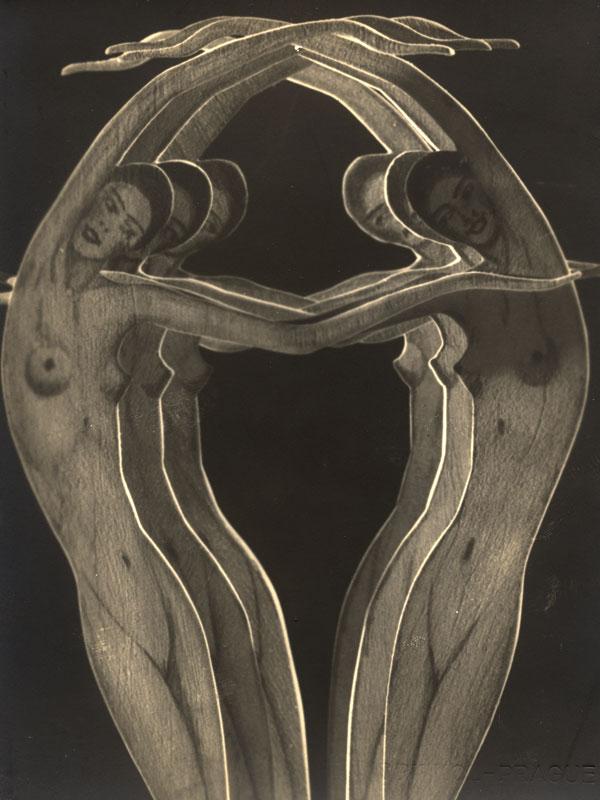František Drtikol - Girls , Paper cut-out, 1932