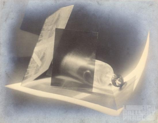 Jaromir Funke  Kompozice ( lavev a sklo) composition bouteille et verre, 1927