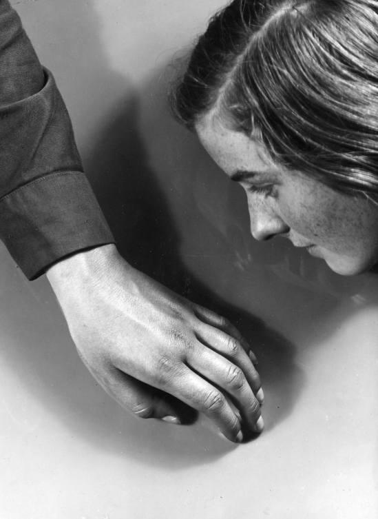 Jaromir Funke- Untitled (Girl's head and hand), 1935