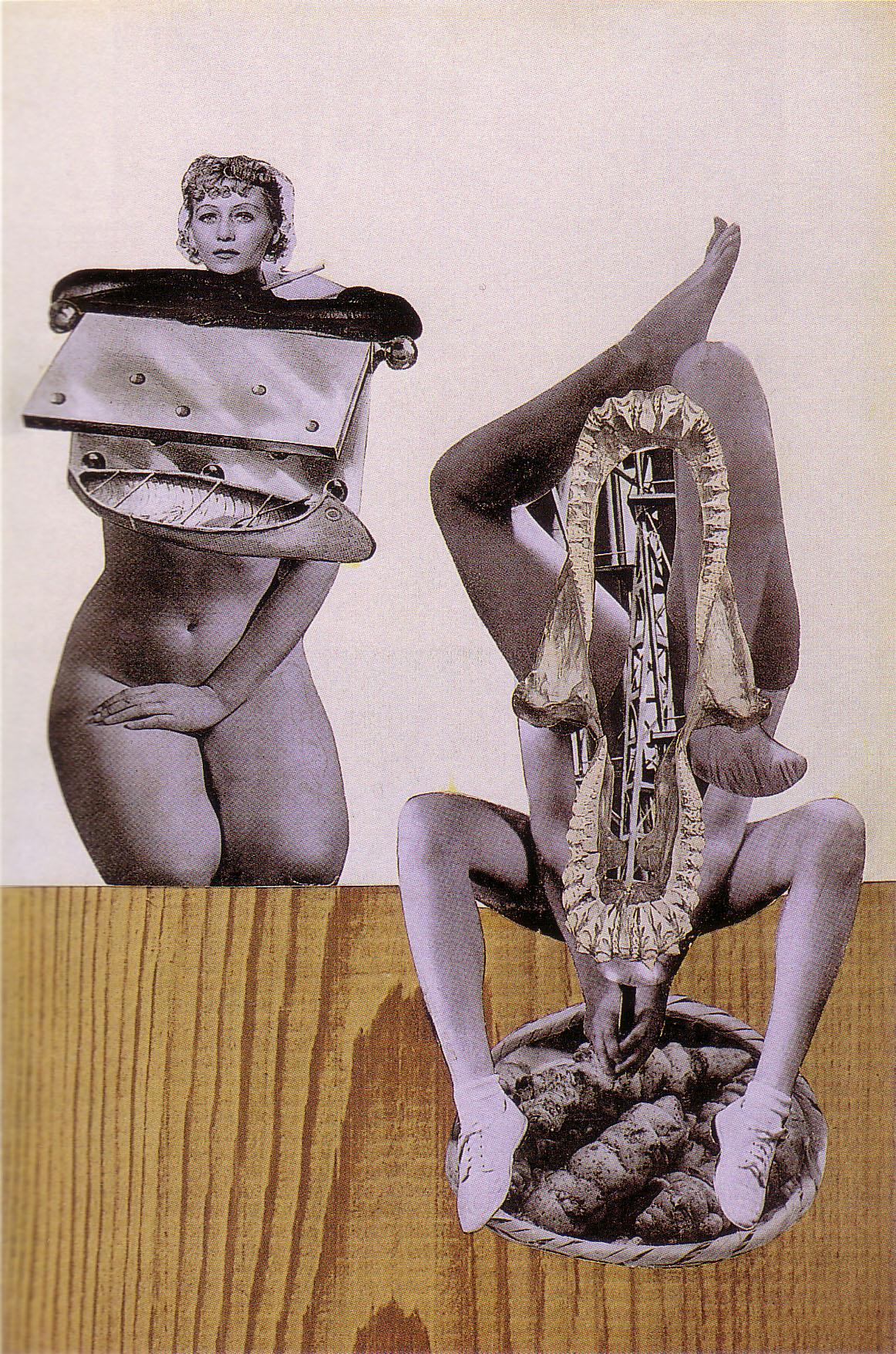 Karel Teige,- Collage #129, 1940. (c) Nachlass Karel Teige