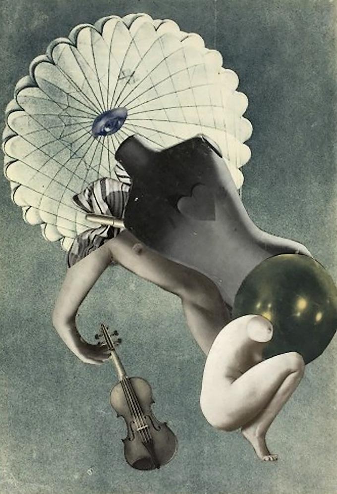 Karel Teige- Collage# 40, 1937 . (c) Nachlass Karel Teige