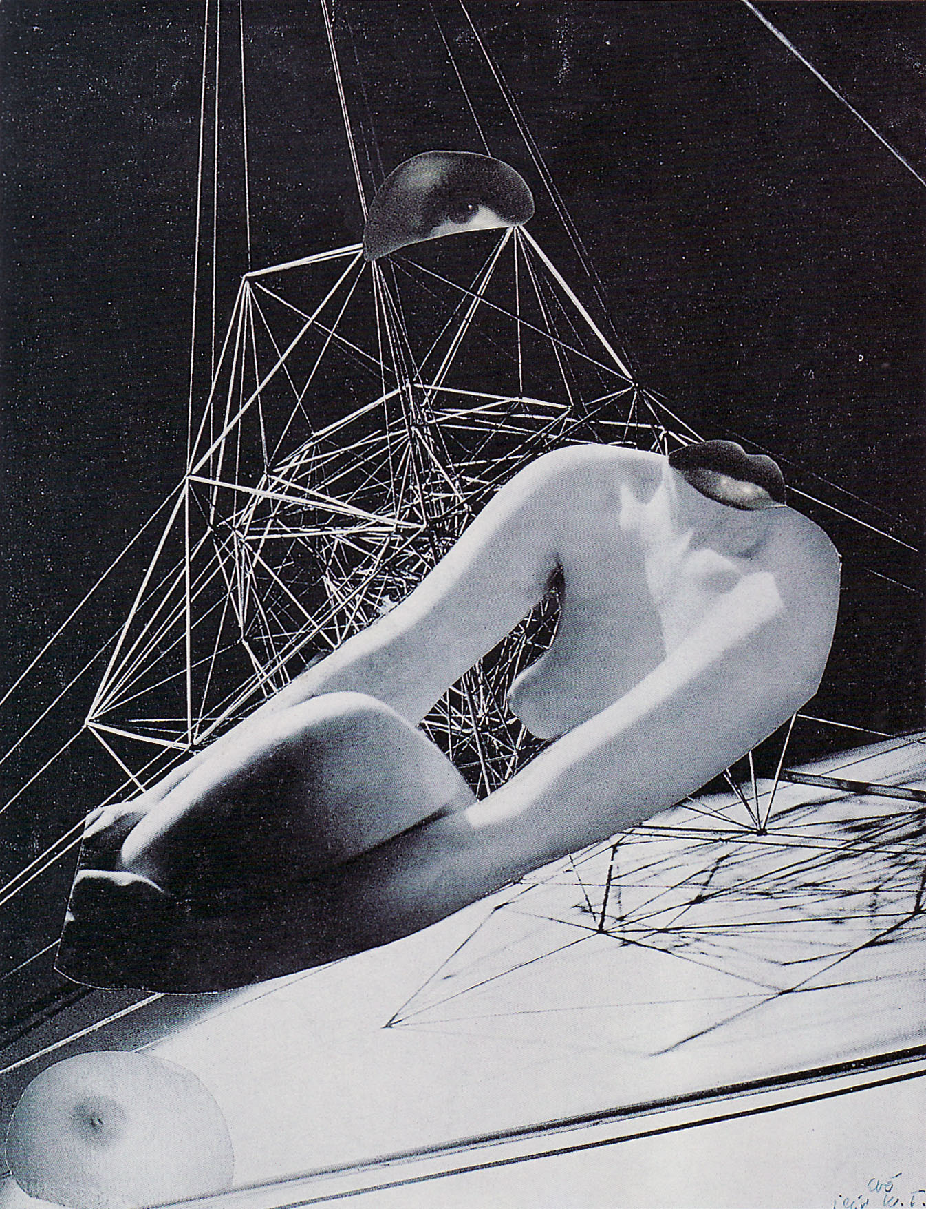 Karel Teige,- Collage# 299, 1944. (c) Nachlass Karel Teige