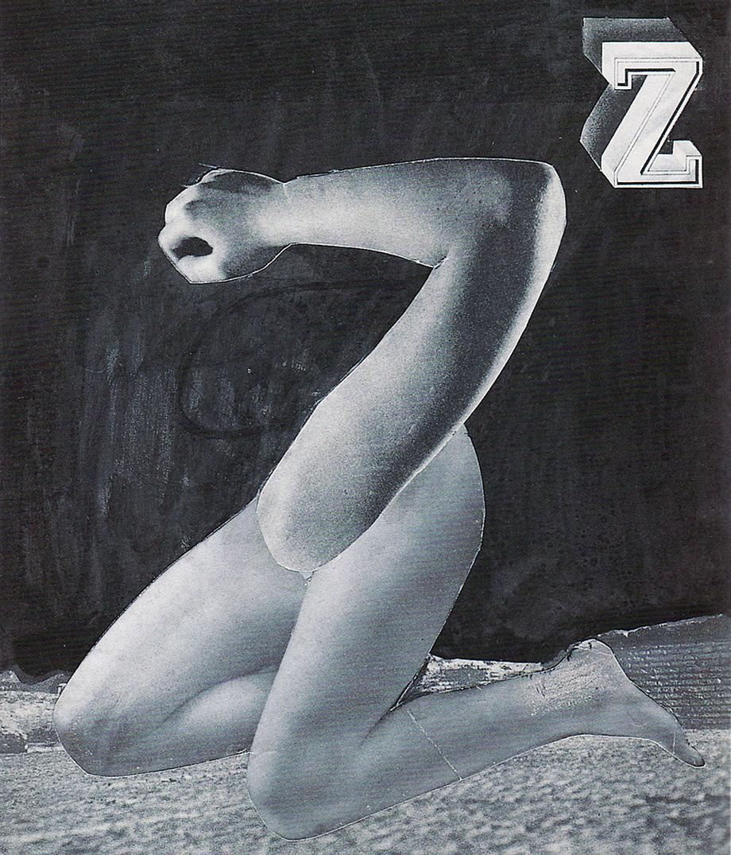 Karel Teige- Collage# 317 , 1947 (c) Nachlass Karel Teige