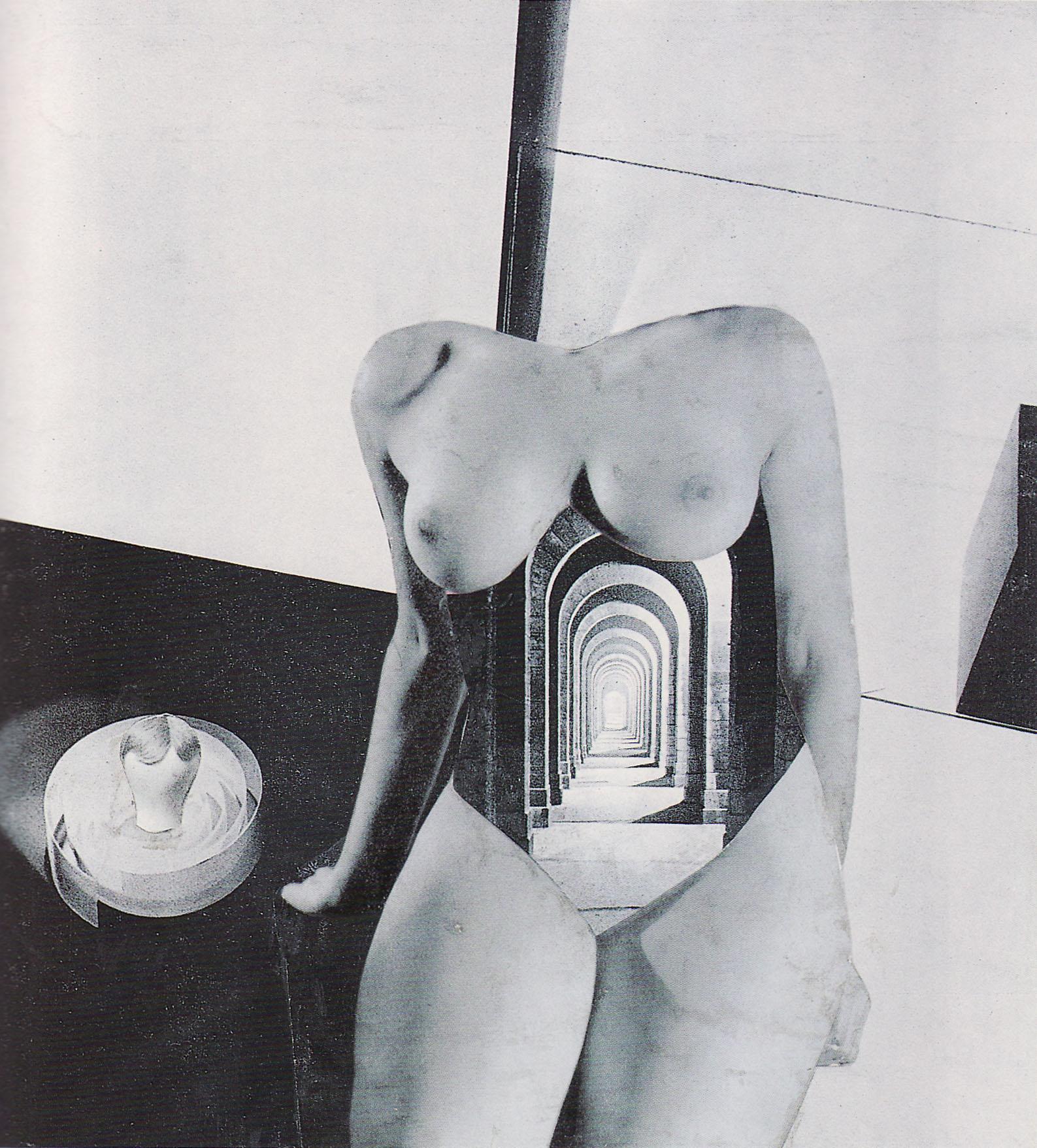Karel Teige- Collage # 318, 1946. (c) Nachlass Karel Teige