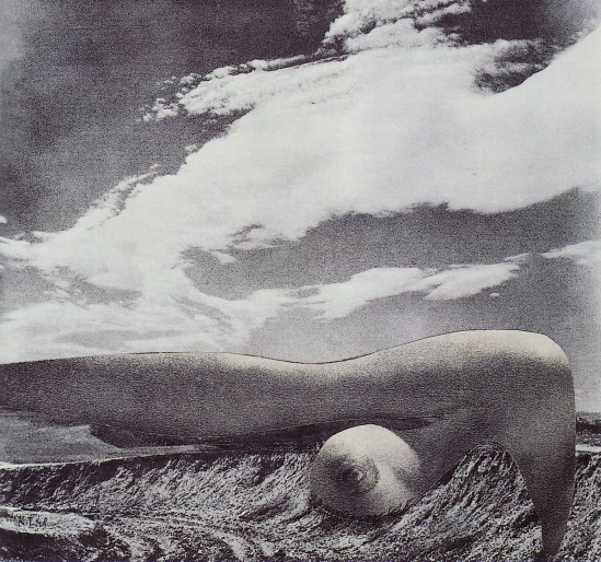 Karel Teige- Collage #346, 1948. (c) Nachlass Karel Teige