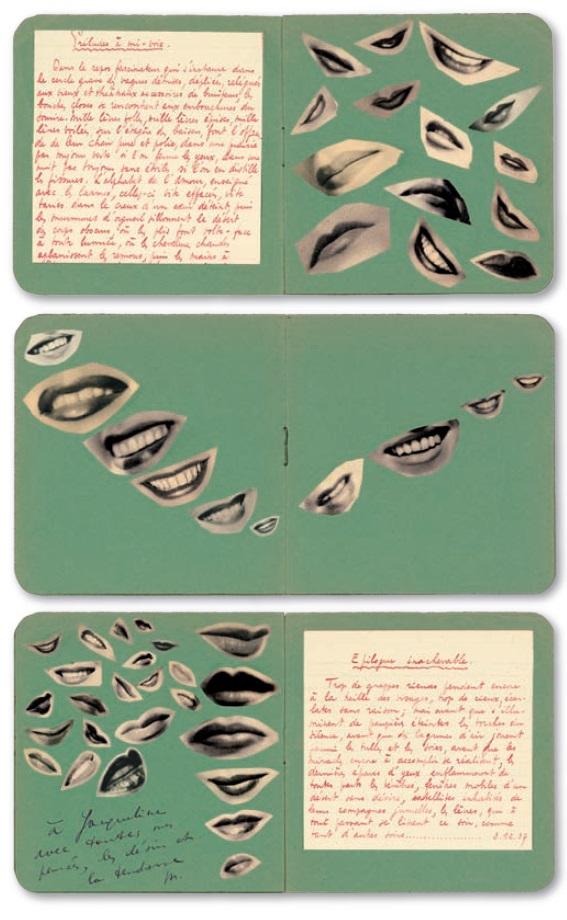 Marcel Mariën- Les touches du silence, poème sans paroles, 1937, collage, ( pour Jacqueline Nonkels his lover)