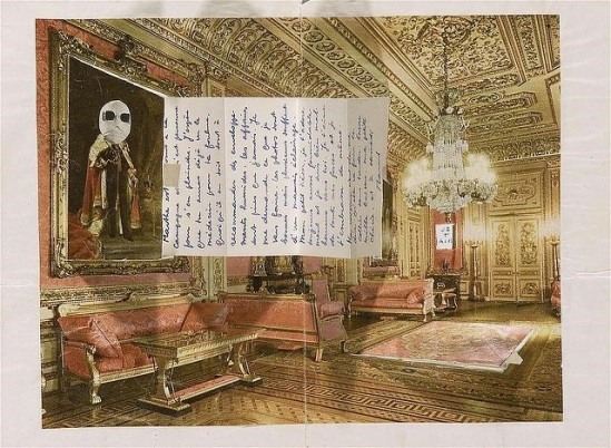 Marcel Mariën- Salon ,lettre collage