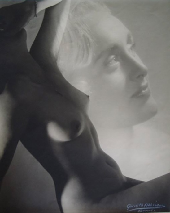 Quinto Albicocco - nude study, double exposure, 1930s