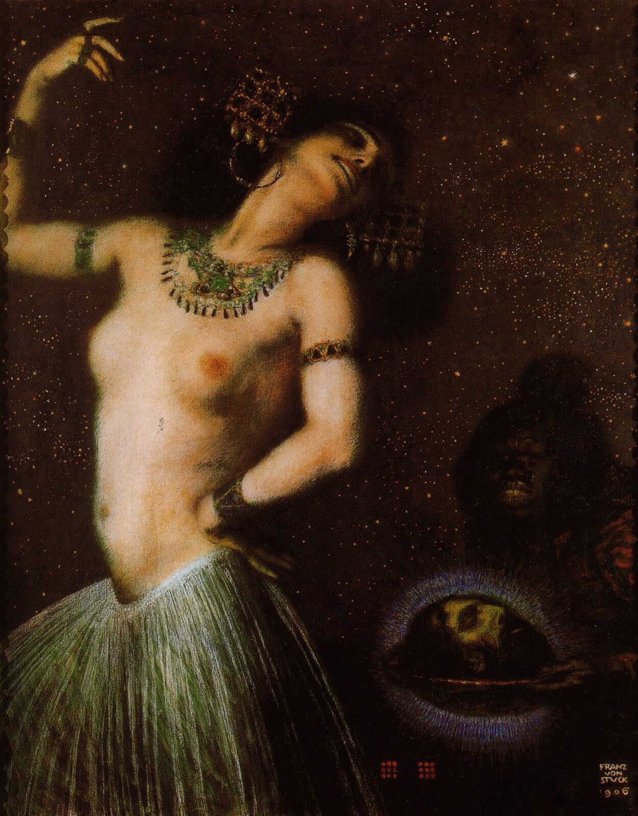 Franz Stuck (1863 -1928.German painter.)- Salomé II , 1906