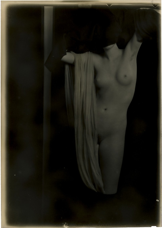 Arnold Genthe - Modern Nude in Transparency, 1920 Silver Nitrate Camera