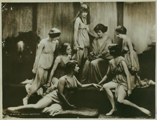 "Arnold Genthe- The ""Isadorables,"" students of Isadora Duncan 1917  Irma Duncan Collection."