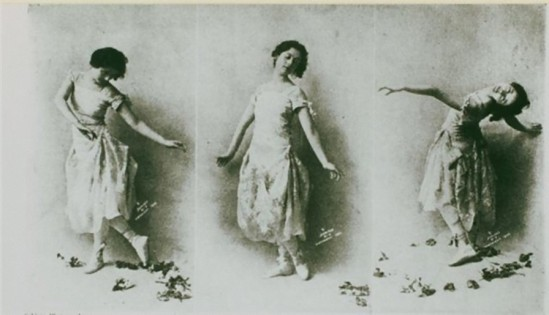 Bruwn brothers – Isadora Duncan, 1899 tryptique