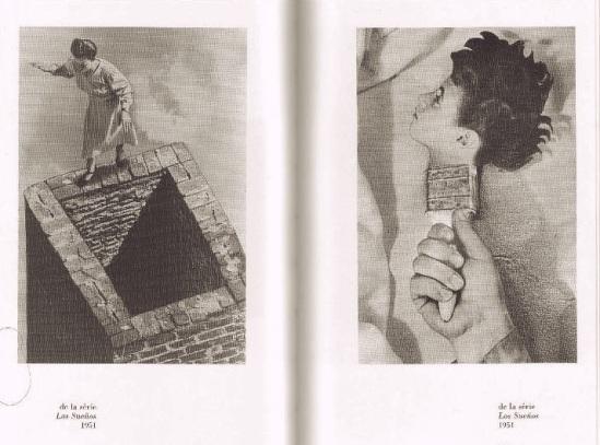 Grete Stern de Derision & Raison Sueño nº 42,  Sin título, 1949. Idilio Los sueños de peligro . Sueño nº 31 Made in England, ca. 1950.