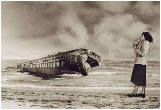 Grete Stern-En el andén Sueños 105, Idilio 40. Obras modificadas, 1949