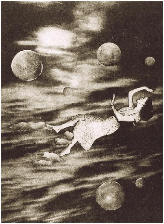 Grete Stern-Los sueños cósmicos Sueños 43 Idilio 18.  , 1949