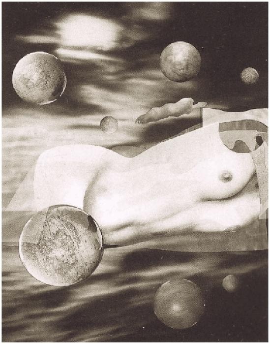 Grete Stern-Obras modificadas,  Sueños 104 Cuerpos celestes  Idilio 18 ,1949