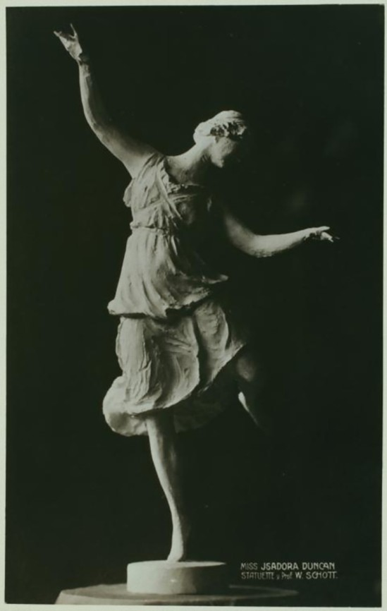 Statuette de W. Schott -Isadora Duncan, (photogrphy no credit given.)