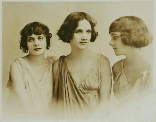 Studio Apeda- Isadora Duncan's pupils and adopted daughters, Irma, Anna and Erica Duncan, known as the Isadorables, 1916