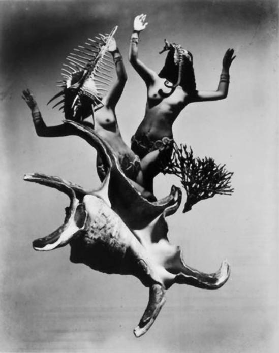 Iwata Nakayama-Festival Demon, photomontage, 1948