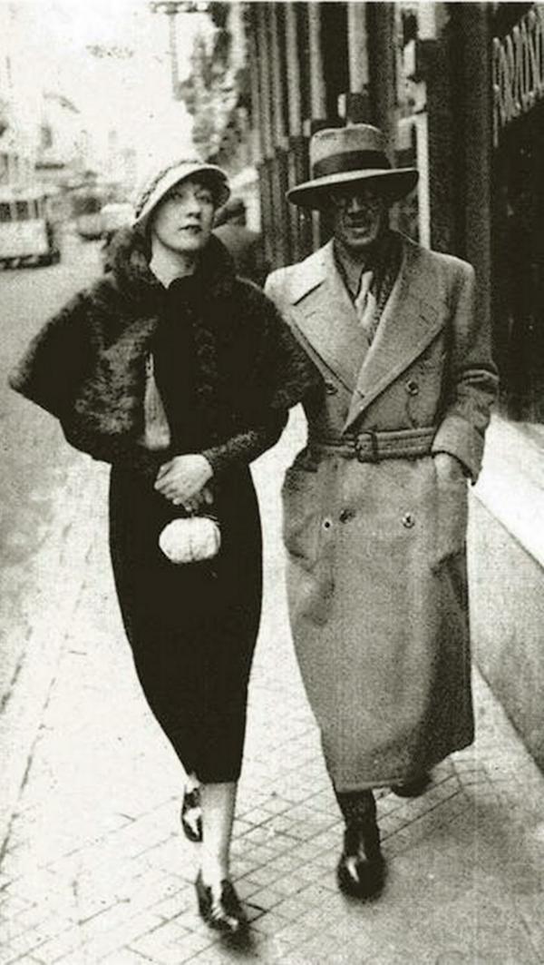 Iwata Nakayama - The painter Foujita et Kiki de montparnasse, Paris, 1926