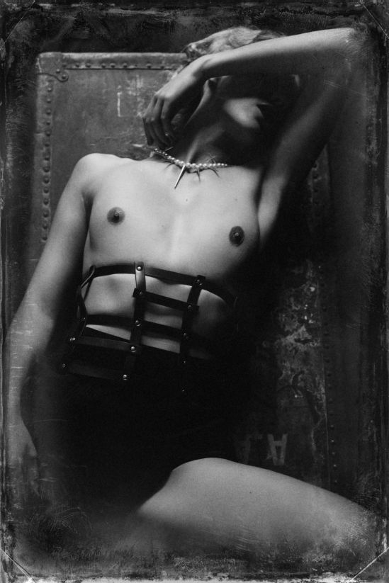 Malika Mokadem- Leather cage 1 , 2012