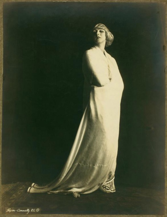 Orval  Hixon -Ruth St Denis in Greek Veil Plastique., 1920