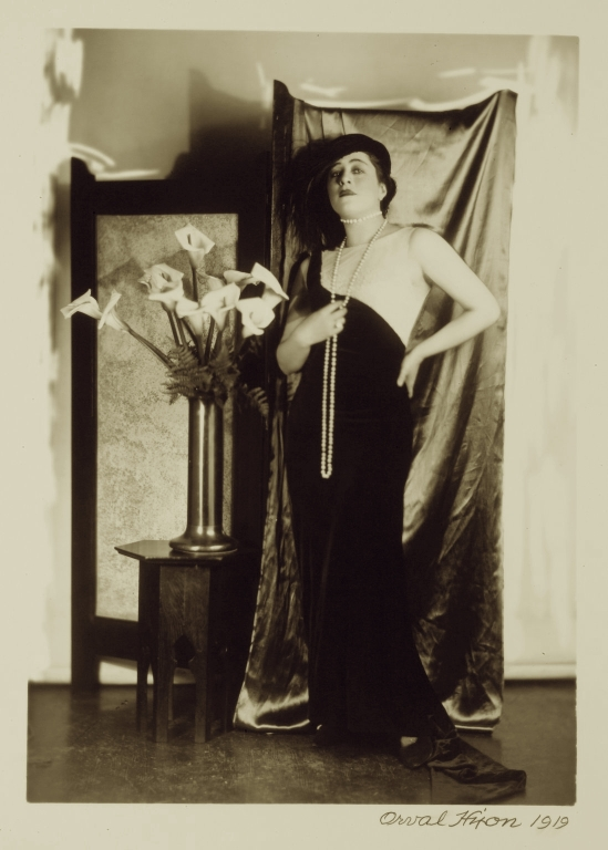 Orval  Hixon-Veleska Surratt( Vampire in Silent Movies) , 1919