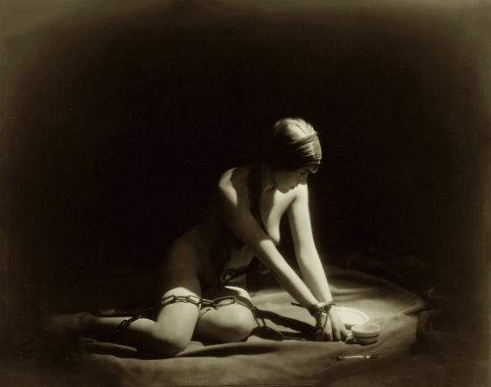 Orval  Hixon--Zoe Barnett Vaudeville Entertainer,1920  Figure Study (Chains) By KC Artist Photographer Orval Hixon