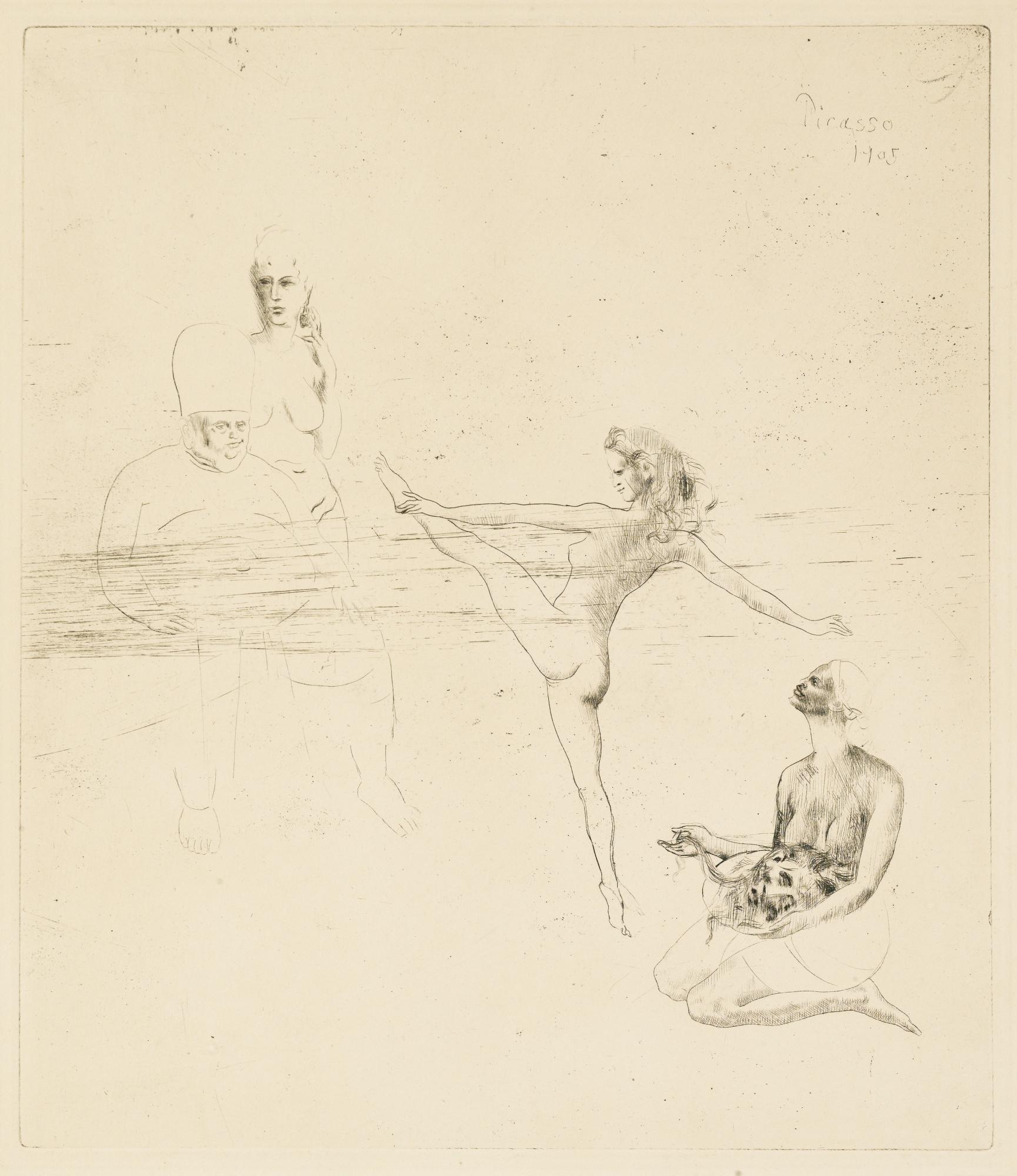 Pablo Picasso - la suite des saltimbanques, 14 encres ans dessins au crayons de 1906-05 , ed° Ambroise Vollard, Paris, 1923