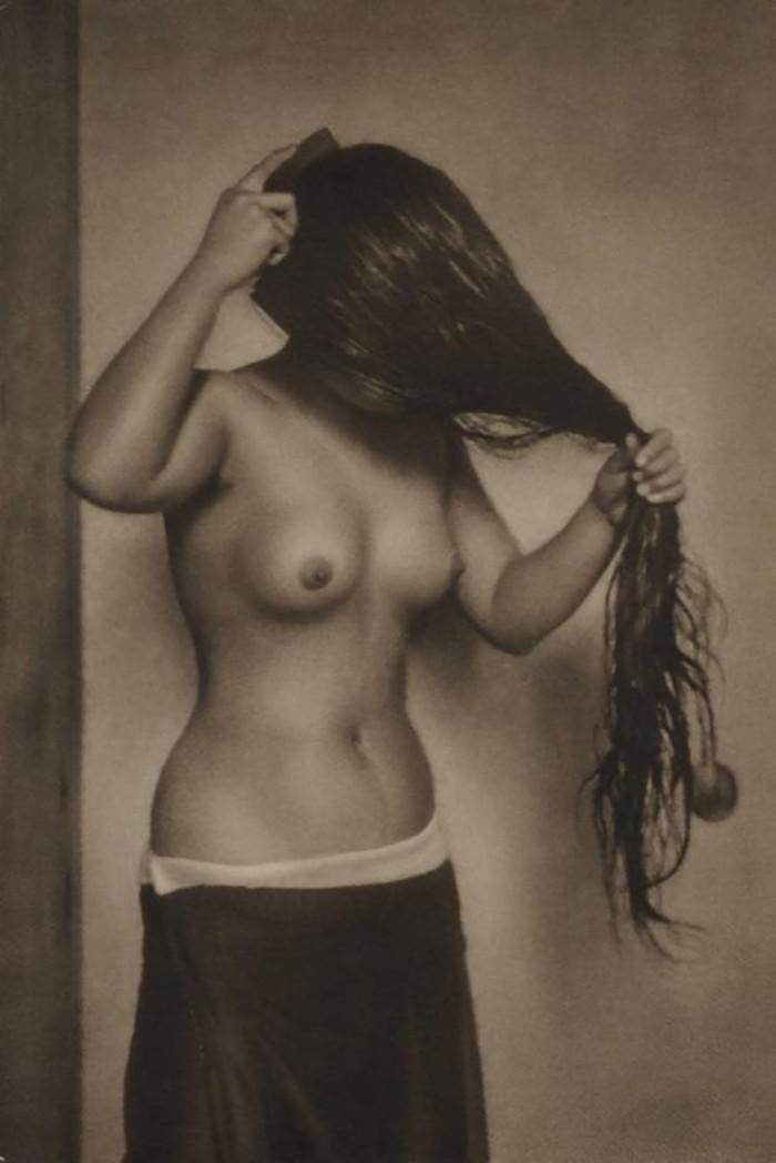 Yasuzo Nozima-Nude Torso, 1930 bromoil print