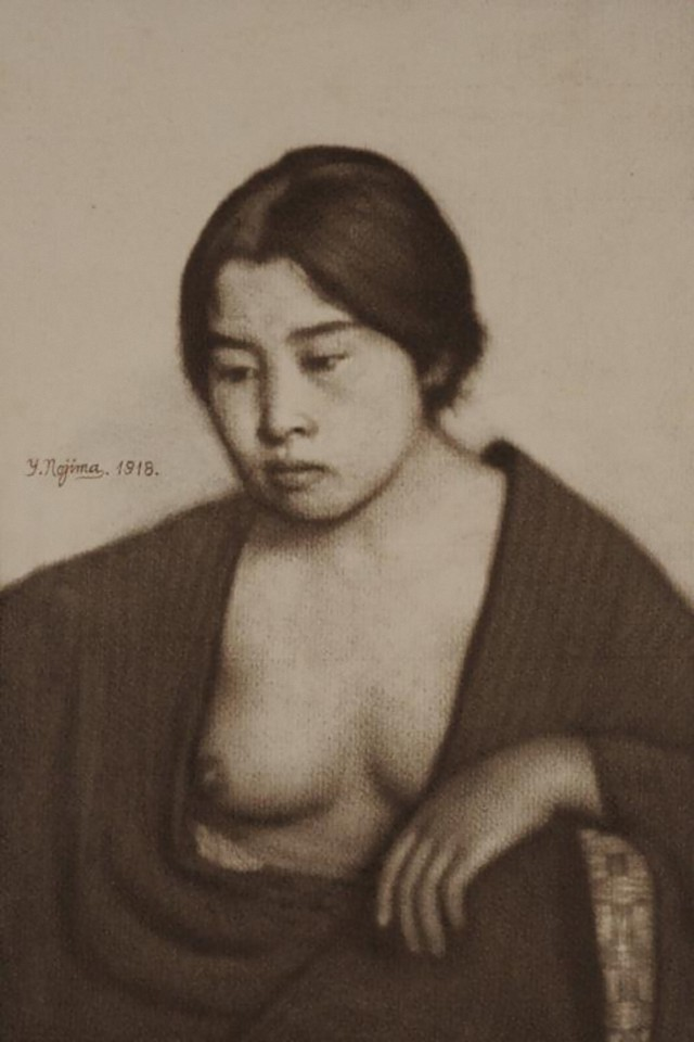 Yasuzo Nozima-Woman , 1918gum bichromate print_