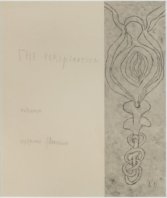 Louise Bourgeois - « La resiration» –Panneau 10 Mine graphite sur papier et estampes rehaussées à l'aquarelle, 2007