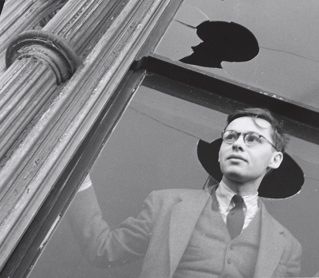 John Gutmann-Innocence, Young H.B. Through the Broken Glass of a Window, 1939