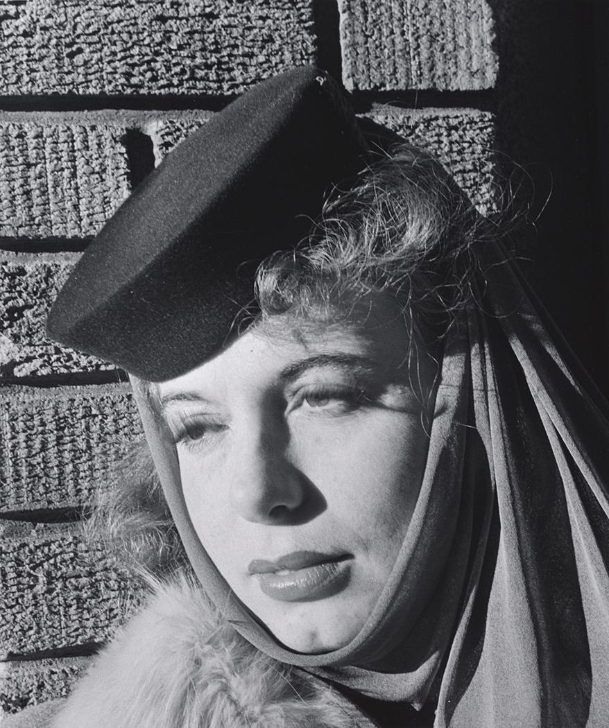 John Gutmann-Irene in Pillbox Cowled, 1939
