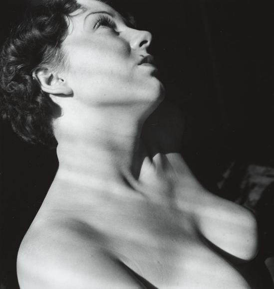 John Gutmann-Light Through Shades on Ruthie, 1935
