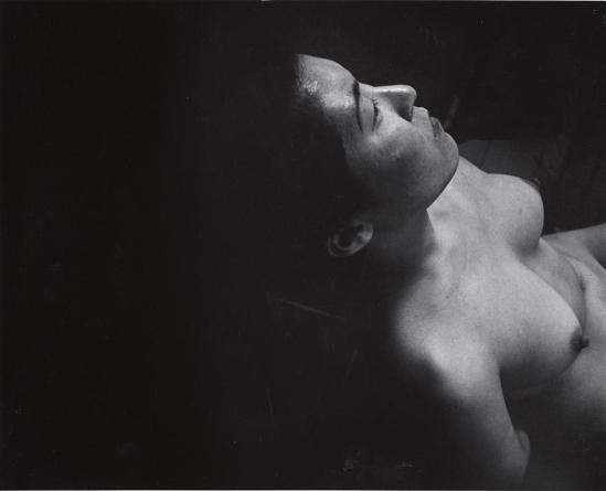 John Gutmann-Looking Down at Nude Akiko, 1934