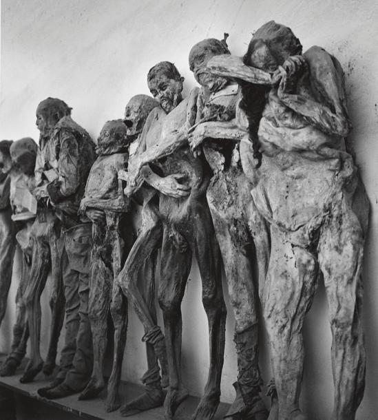 John Gutmann-Mummies in the Catacombs of Guanajuato, Mexico, 1960