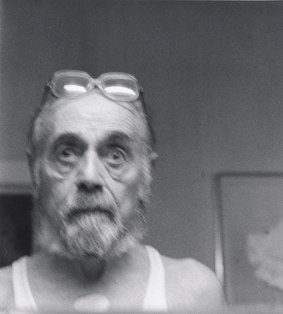 John Gutmann-Self Portrait with Nitro Patch, New York, 1989