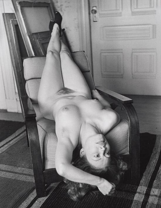 John Gutmann-Upside-Down Nude in Studio, 1937
