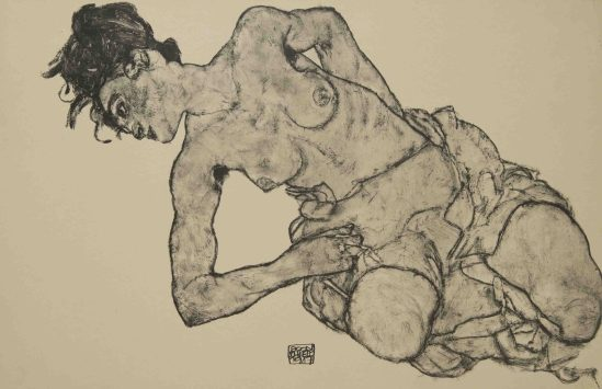 Egon Schiele - Nude, From the portfolio Zeichnungen (drawings),1917 incluing 12 Heliotypes, Ed° Librairie Richard Lanyi,Vienne, 1917.