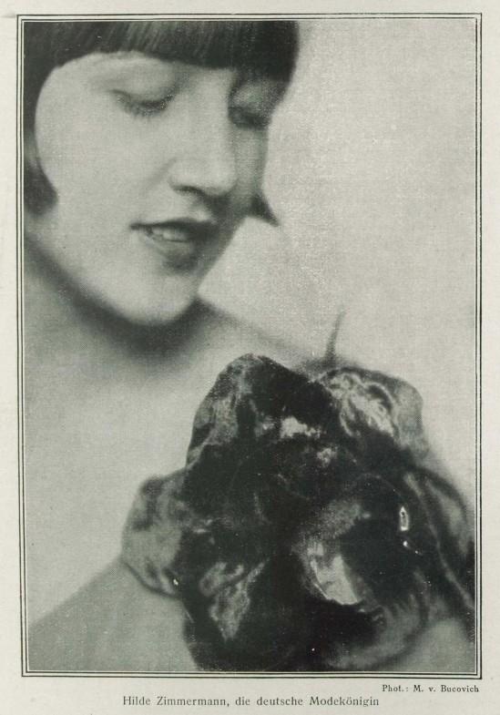 Mario von Bucovich- Hilde Zimmermann, la reine de la mode allemande published in Revue Des Monats, Avril 1927