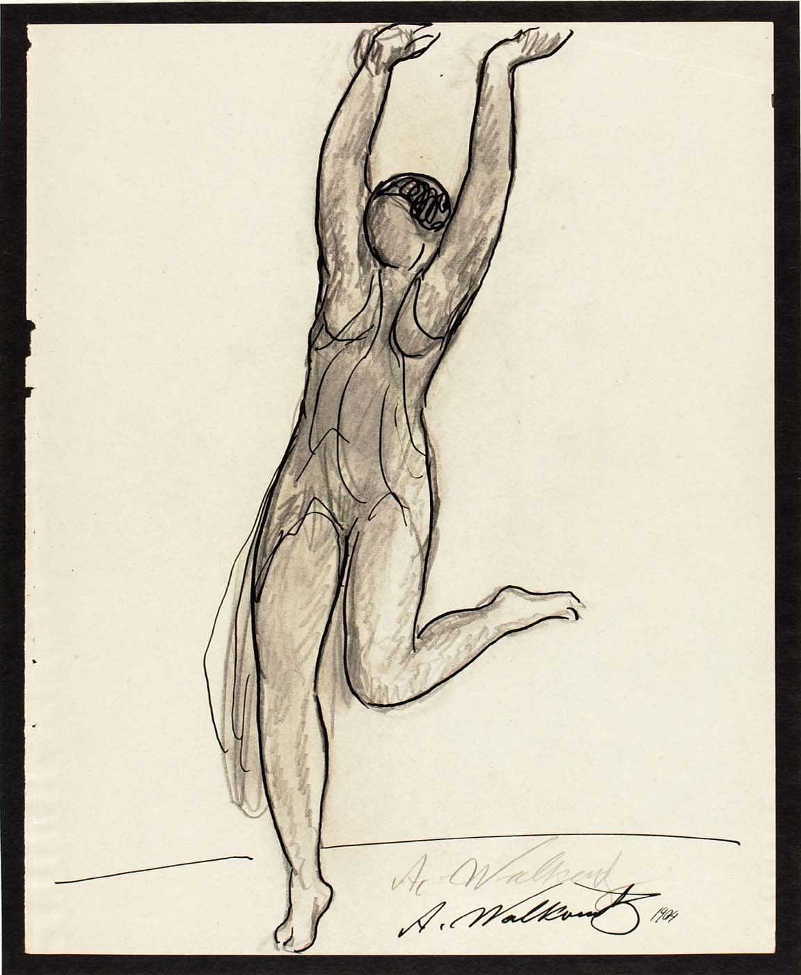 Abraham Walkowitz, Isadora Duncan , 1909 pencil and pen and ink on paper © American Art Museum