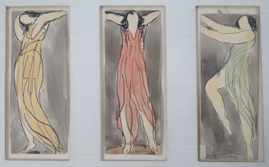 Abraham Walkowitz- Isadora Duncan, 3 colored crayon, watercolor, ink and graphite on paper, 1915