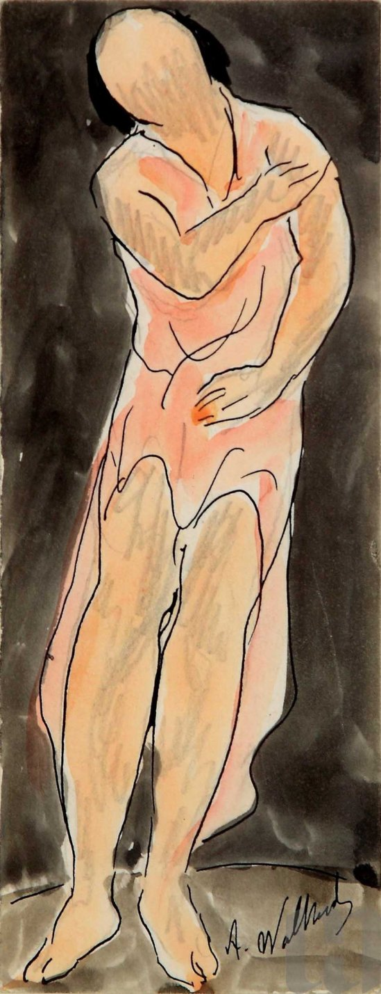 Abraham Walkowitz- Isadora Duncan, Dancing, ink and watercolor on paper, © Reynolda House Museum of American Art © Abraham Walkowitz