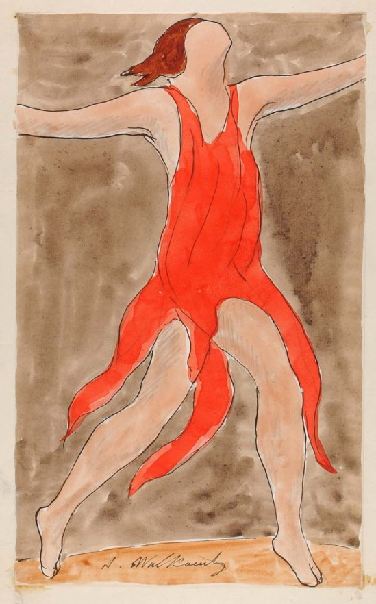 Abraham Walkowitz, Isadora Duncan , Nd pen and ink, watercolor and pencil on paper © American Art Museum