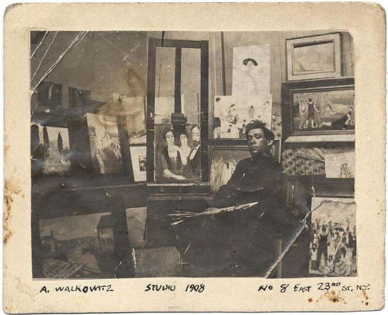 Abraham Walkowitz's The studio 8 East 23rd Street New York; the picture was taken the year of 1908.(Uncredited)