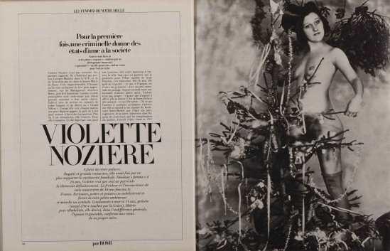 Anonyme -Violette Nozière lors d'une soirée intime pour la fête de Noël , collection Romi.