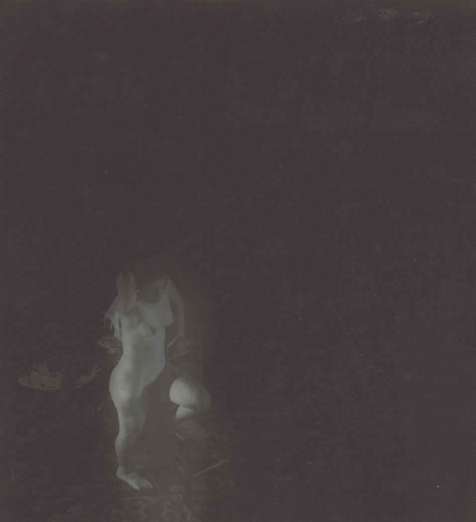 Josef Breitenbach-Female Nude posing, , Nd,, Gelatin silver print© The Josef Breitenbach Trust.