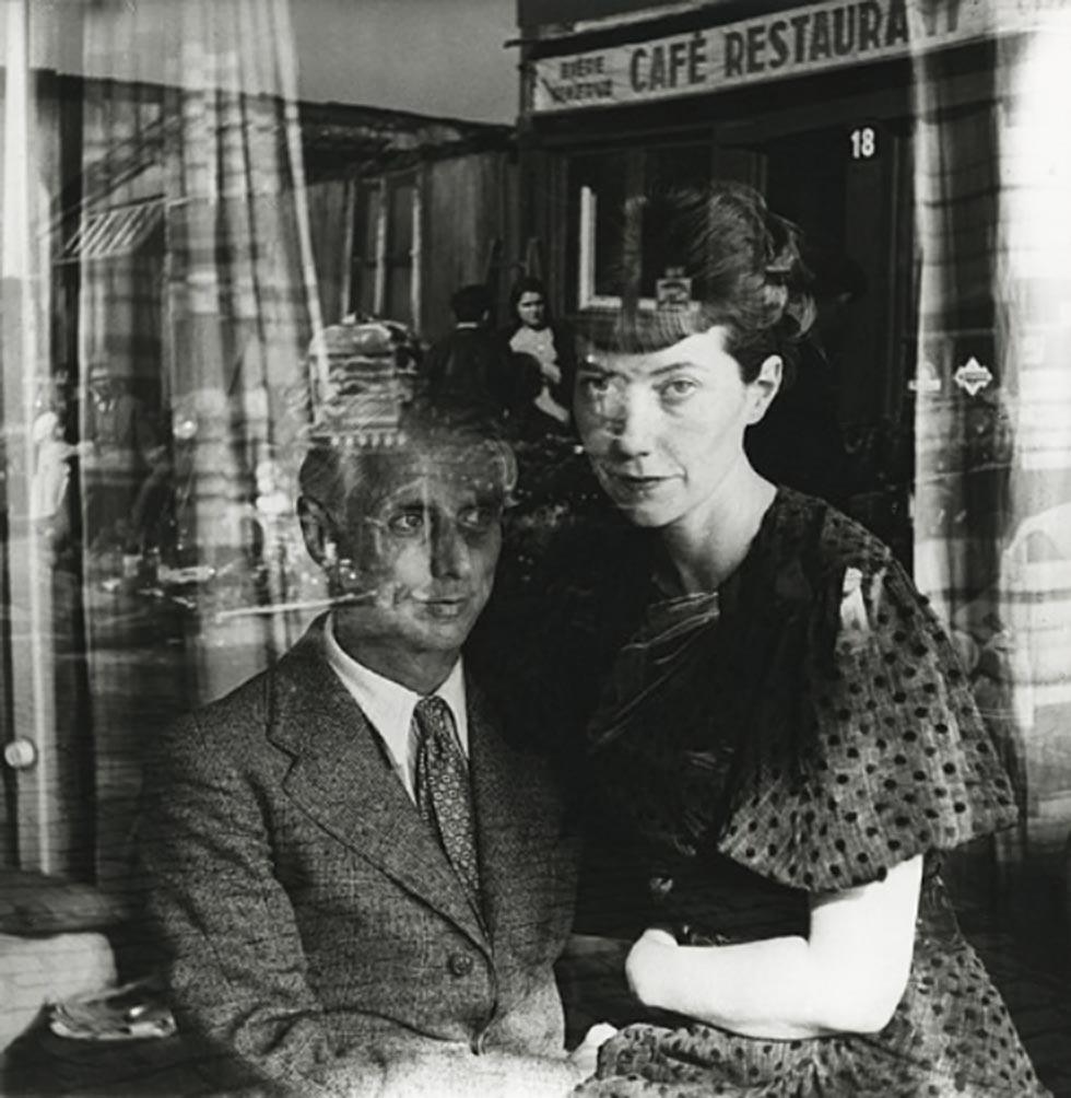 Josef Breitenbach- Max Ernst and his wife, Marie-Berthe Aurenche, Paris, 1936, Early gelatin silver print; printed c. 1942-1948 © The Josef Breitenbach Trust