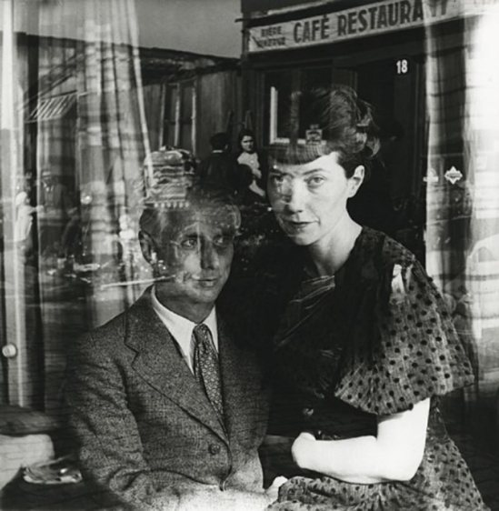 Josef Breitenbach- Max Ernst and his wife, Marie-Berthe Aurenche, Paris, 1936, Early gelatin silver print; printed c. 1942-1948 © The Josef Breitenbach Trust